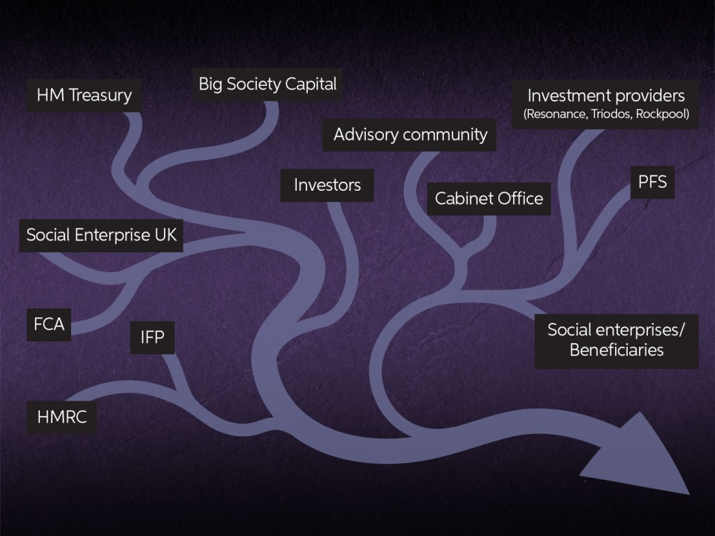 FCA, IFP, Big Society Capital, Financial advisers, investment providers, Social Enterprise UK, Cabinet Office, HM Treasury, HMRC, Social impact investment